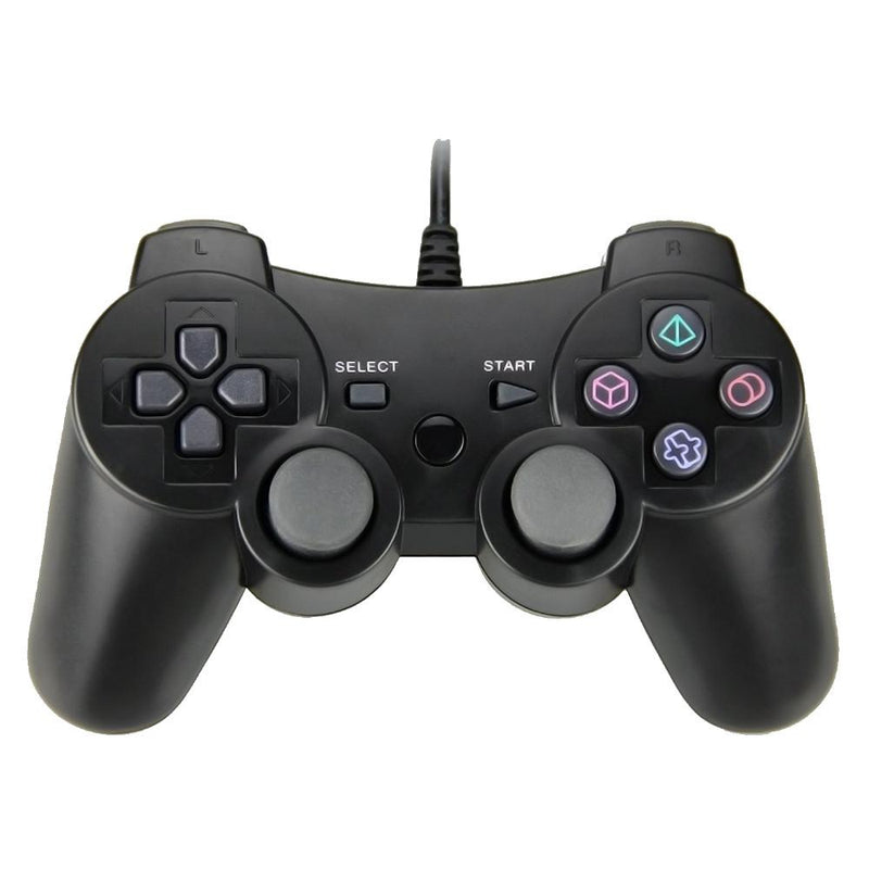 PlayStation 3 (PS3) Wired Controller - Black Controllers 3rd Earth