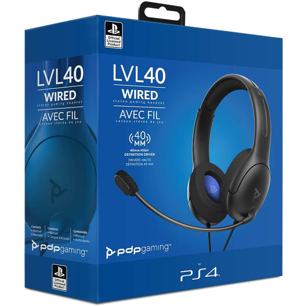 PS4 PDP LVL40 Wired Stereo Gaming Headset (Black/Blue)