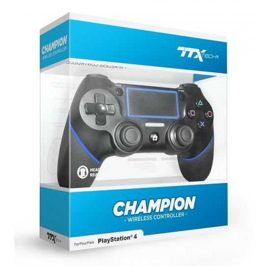 PS4 TTX Tech Champion Wireless Controller - Black