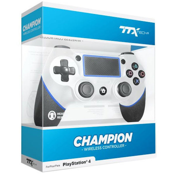 PS4 TTX Tech Champion Wireless Controller - White