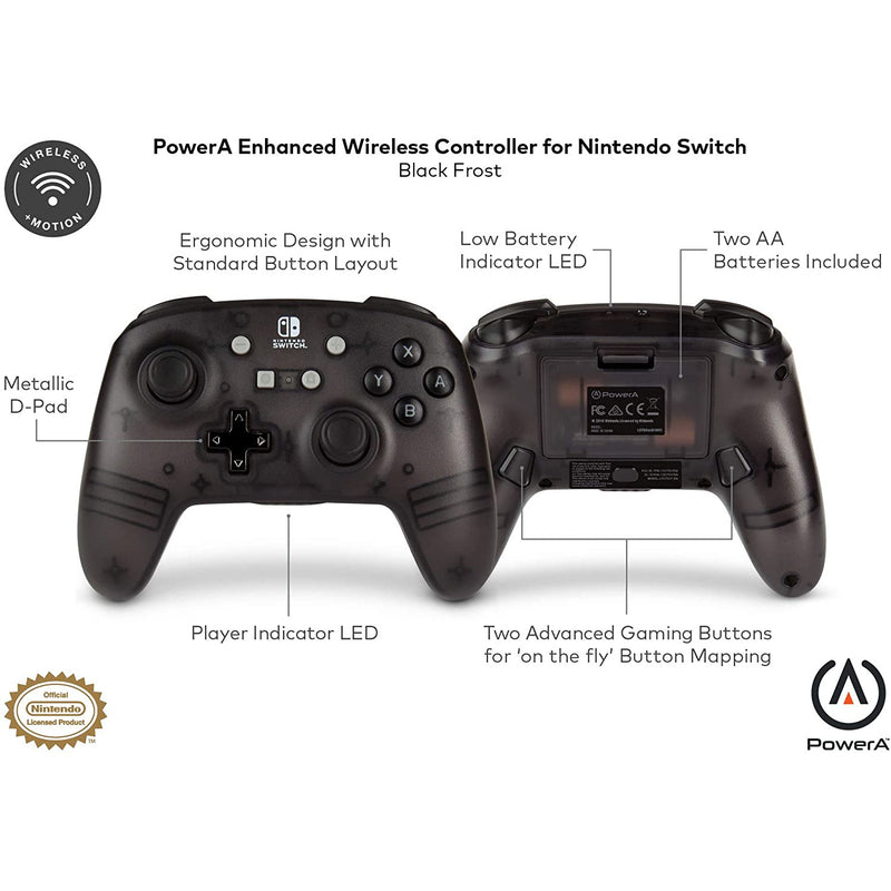 Nintendo Switch Enhanced Wireless Controller (Black/Grey Frost)