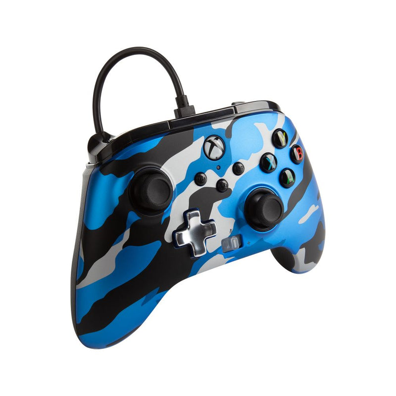 PowerA Xbox Series X|S Enhanced Wired Controller (Metallic Blue Camo)