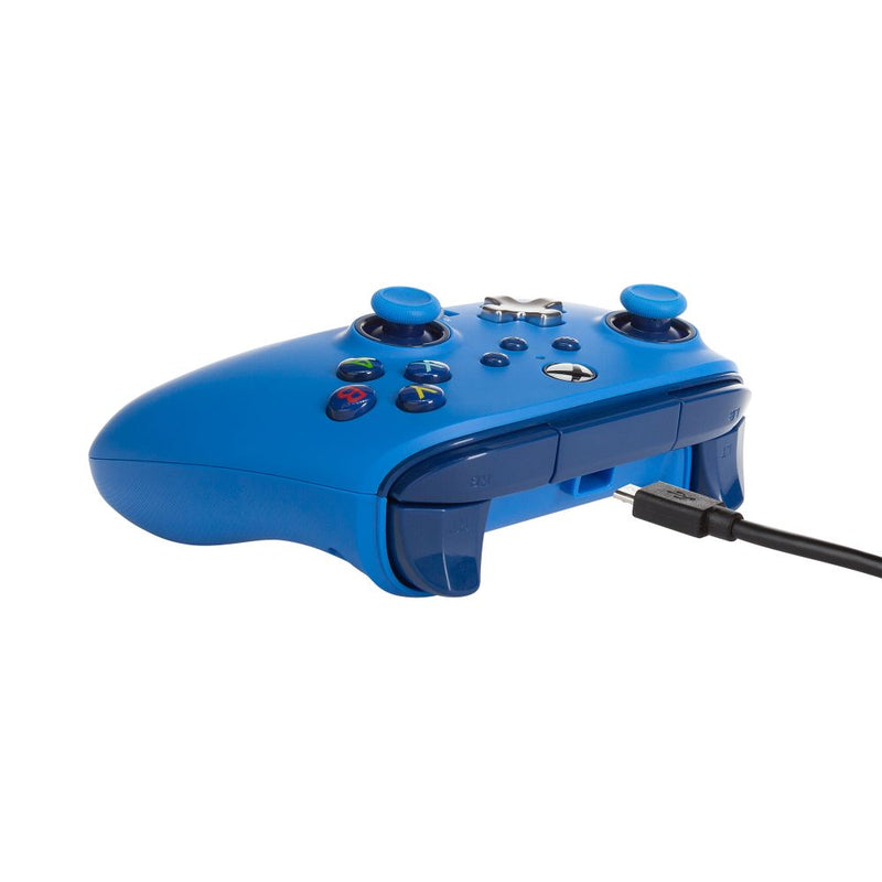 PowerA Xbox Series X|S Enhanced Wired Controller (Bold Blue)