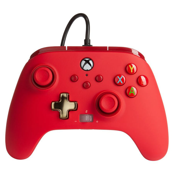 PowerA Xbox Series X|S Enhanced Wired Controller (Bold Red)
