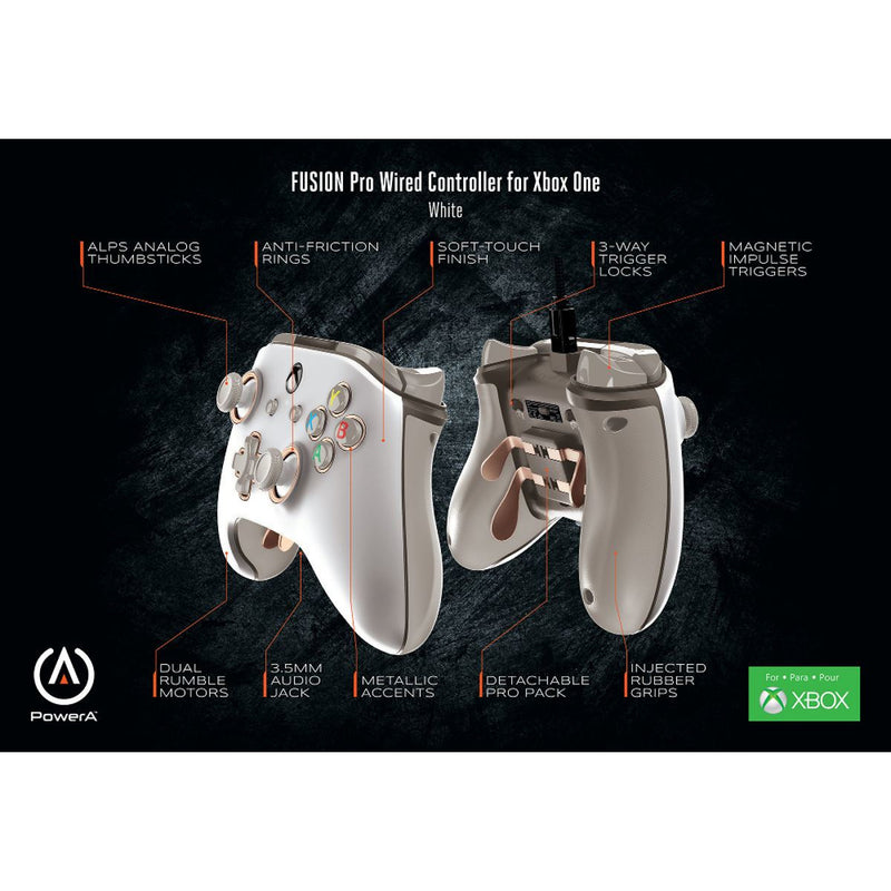 PowerA Fusion Pro Wired Controller White (Xbox One/PC)