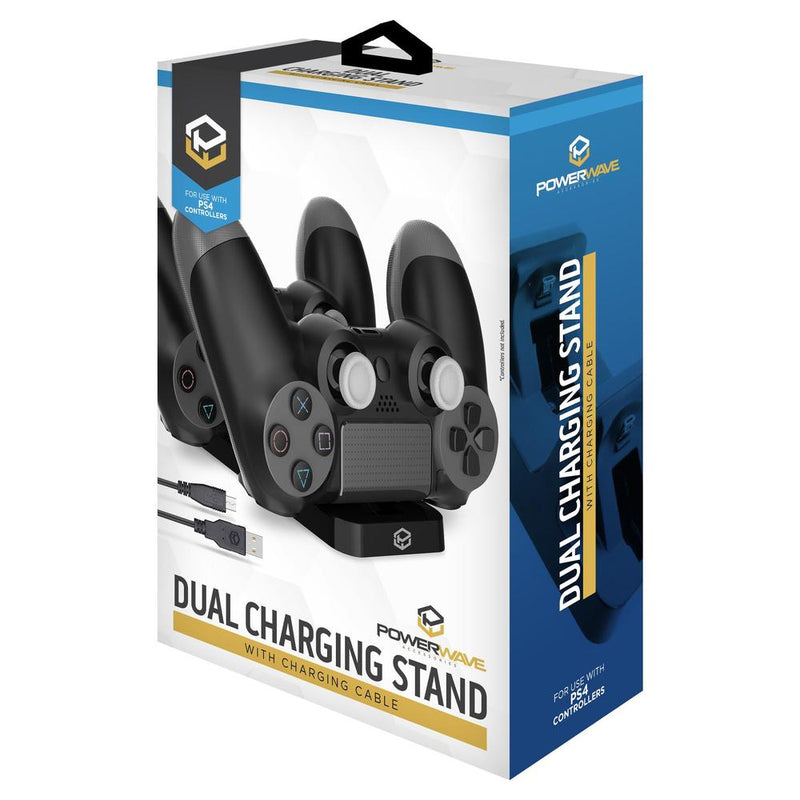 Powerwave Dual Charging Stand with Charging Cable for PlayStation 4 (PS4)