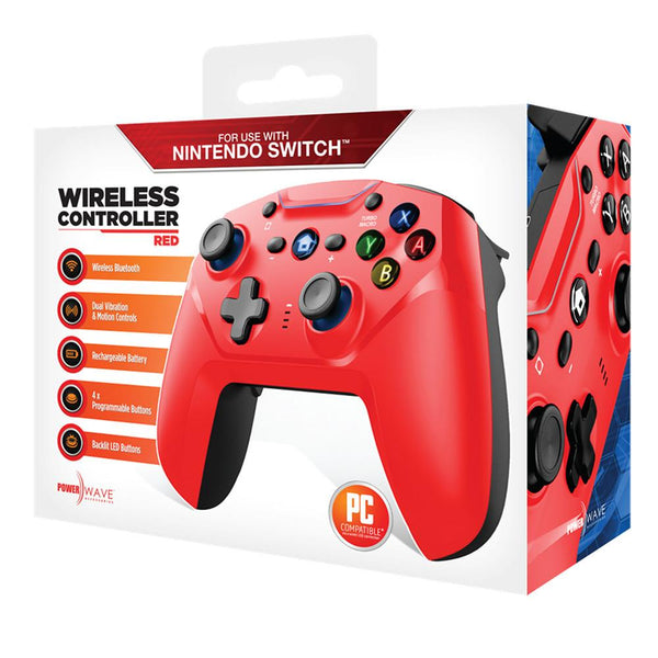 Powerwave Nintendo Switch Wireless Controller (Red)
