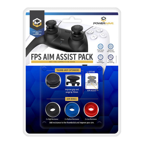 Powerwave PS5 FPS Aim Assist Thumb Grip Pack for PlayStation 5 DualSense Controller