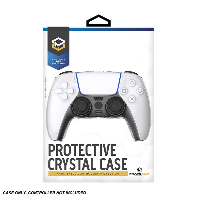 Powerwave PS5 Protective Hard-Shell Crystal Case for PlayStation 5 DualSense Controller