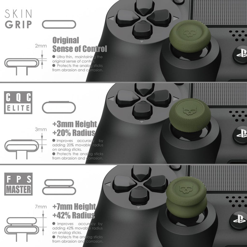 Skull & Co. PRO Thumb Grip Set for Nintendo Switch Pro / PS5 / PS4 Controller (Black)