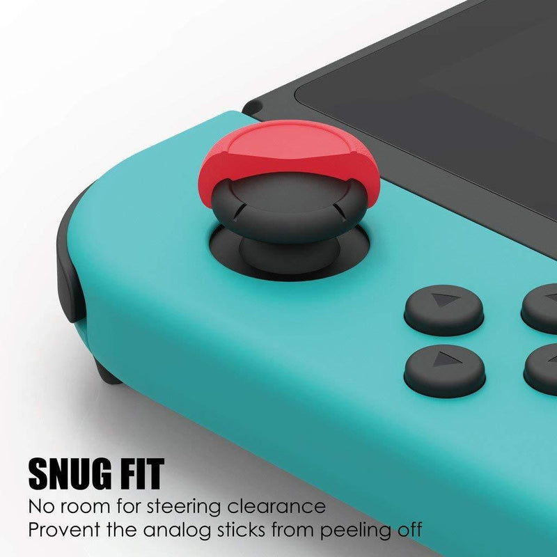 Skull & Co. Thumb Grip Set for Nintendo Switch Joy-Con Controller (Mario Red) Controller Accessories Skull & Co.
