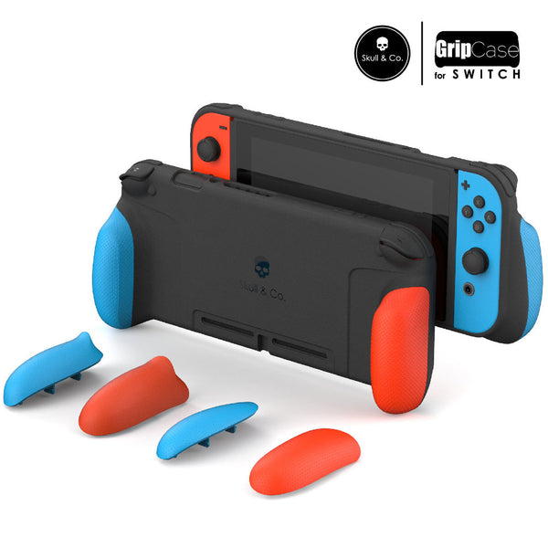 Skull & Co. GripCase for Nintendo Switch - Neon Red & Blue