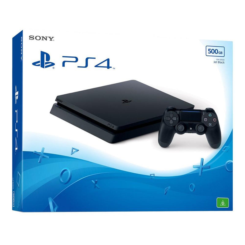 Sony PS4 PlayStation 4 Slim New-Look 500GB Console (Jet Black) Console PlayStation