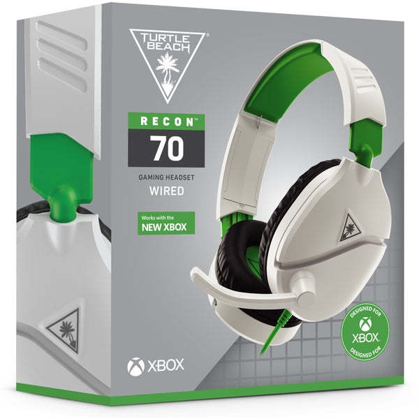 Turtle Beach Ear Force Recon 70 Wired Gaming Headset (White/Green) (Xbox Series X/Xbox One/PS5/PS4/Switch/PC)