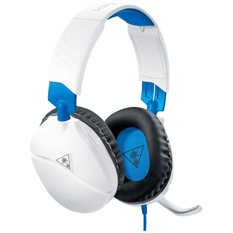 Turtle Beach Ear Force Recon 70 Wired Gaming Headset (White/Blue) (PS5/PS4/Xbox One/Series X/Switch/PC)
