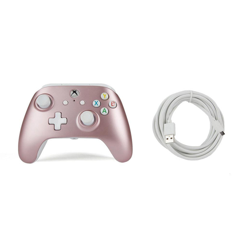 Xbox One Enhanced Wired Controller (Rose Gold) Controllers PowerA