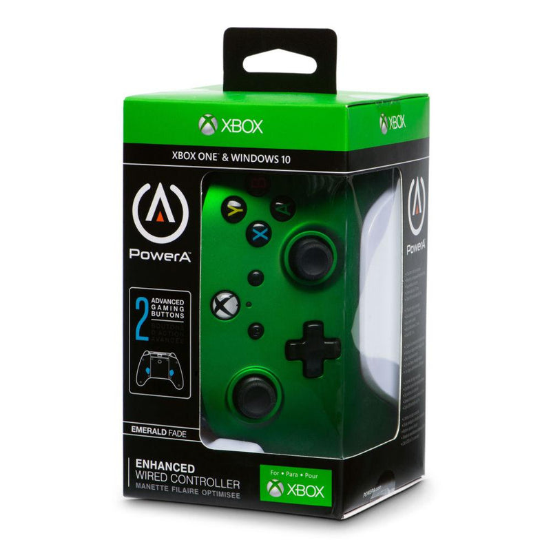 Xbox One Enhanced Wired Controller (Emerald Fade) Controllers PowerA
