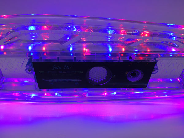 22'' White Ledkers LED Skateboard with Bluetooth Speaker - Ledkers