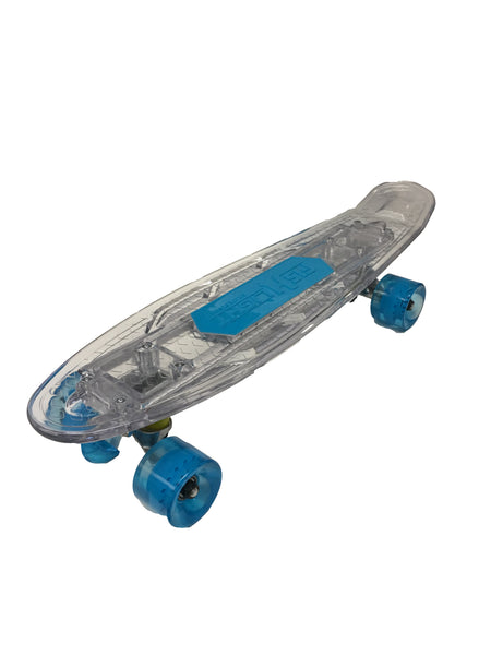 22'' White Ledkers LED Skateboard with Bluetooth Speaker