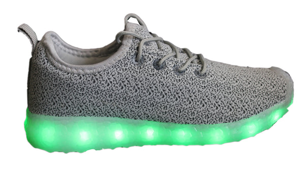 Light Up Woven Shoes 2017 style - Grey G16GY - Ledkers