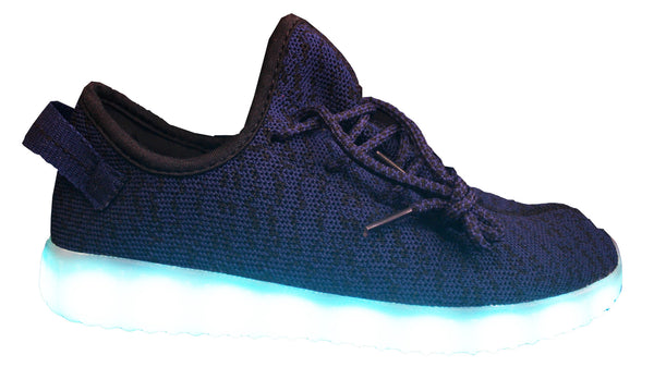 Light Up Woven Classic Shoes - Navy/Black G24BL - Ledkers
