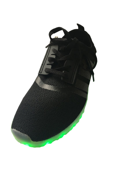 Light Up LED Woven Shoes 2017 style - Black G30BK - Ledkers