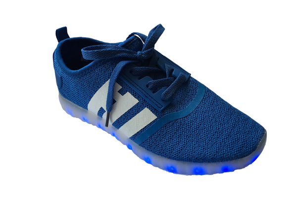 Light Up LED Woven Shoes 2017 style - Light Blue G30BL - Ledkers
