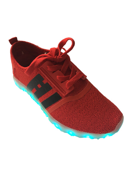 Light Up LED Woven Shoes 2017 style - Red G30RD - Ledkers