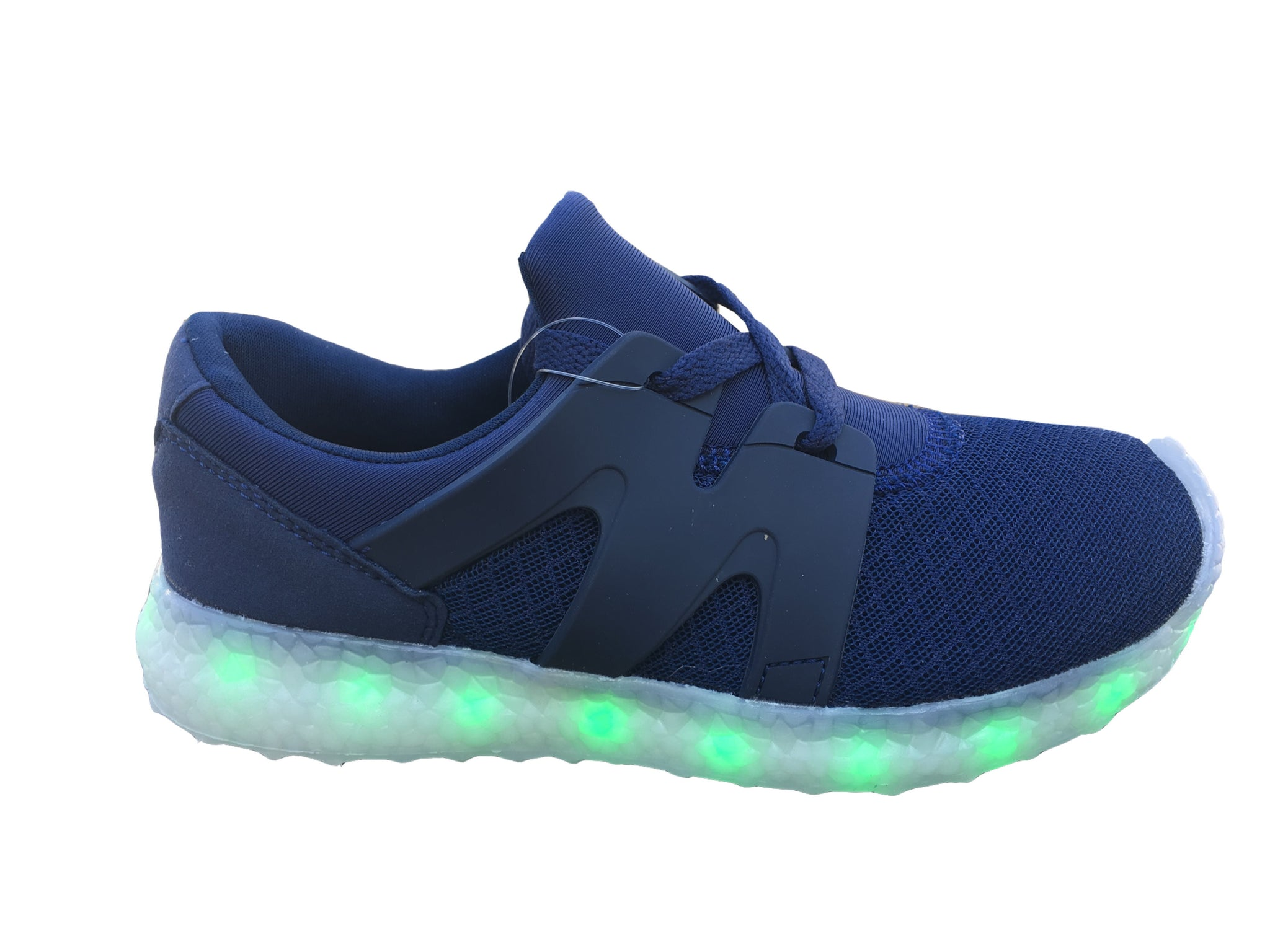 LED Light Up Woven 2017 Style Shoes - Blue G51BL - Ledkers
