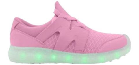 LED Light Up Woven Classic Shoes - Pink G51PK - Ledkers