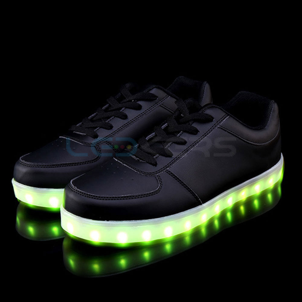 LED Glow in Dark Sneakers (Black) - Ledkers