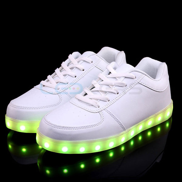 LED Glow in Dark Sneakers (White) - Ledkers