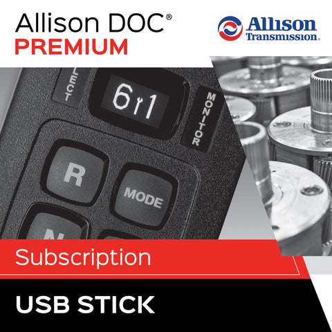 Allison DOC® Premium On USB Memory Stick