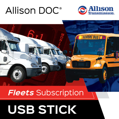 Allison DOC® Fleets On USB Memory Stick