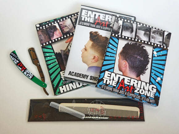 Entering the ArtZone DVD Education Bundle Set. Best selling clipper cutting step by step fade haircut tutorials to date! - Hiki10 Collection