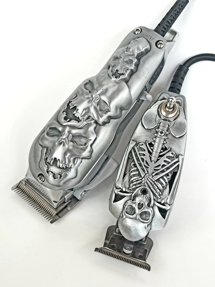 Wahl Senior Professional 3D Stacked Silver Skull Design Hair Clipper, MODIFIED By Entering the ArtZone