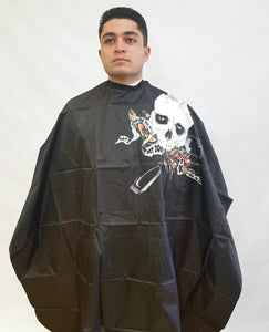 All Purpose Mohawk Skeleton Cape. Great for shampoo/cutting.