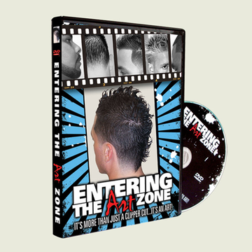 Half Fade blend with beard shaping form BEST SELLING Entering the ArtZone DVD