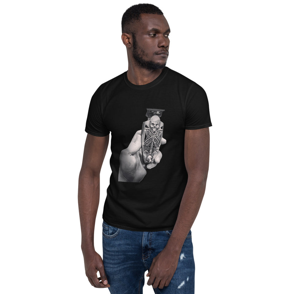 Entering The ArtZone Skeleton in Hand Fashion T-Shirt