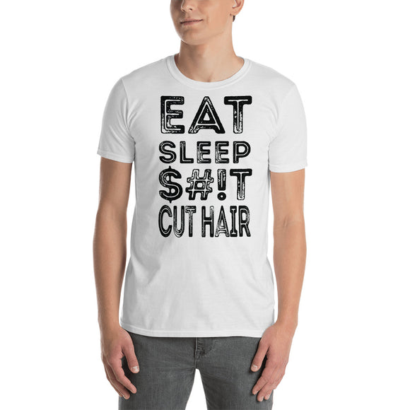 Hair Salon Eat Sleep $#iT Cut Hair unisex Tees Barbershop Barbers Stylist - Hiki10 Collection