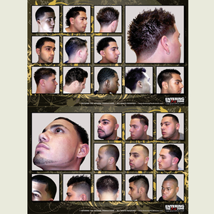 Contemporary 2 Set Haircut Chart Clipper Cut Barbershop Posters - Hiki10 Collection