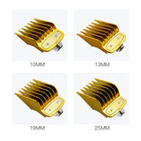8 PCS GOLD PLATED HIGH POLYMER PLASTIC UNIVERSAL HAIR CLIPPER GUARDS