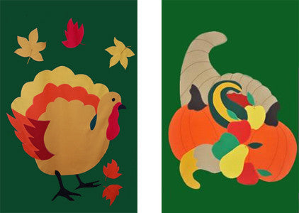 Decorate for  Thanksgiving with a Flag Lady Banner!