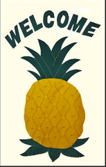 Welcome Pineapple applique house flag
