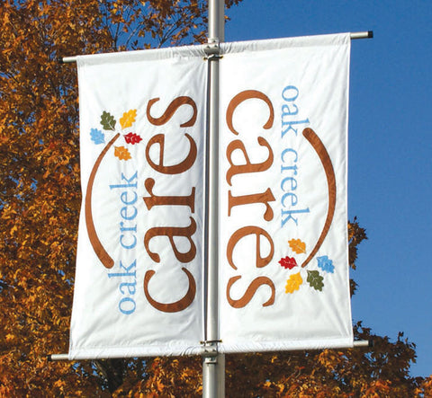 Appliqued street banners