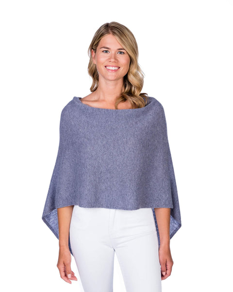 Claudia Nichole Cashmere Dress Topper - Bluestone