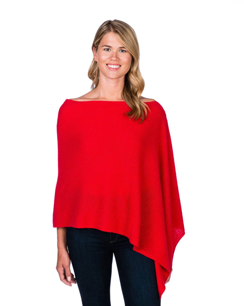 Claudia Nichole Cashmere Dress Topper - Vermillion