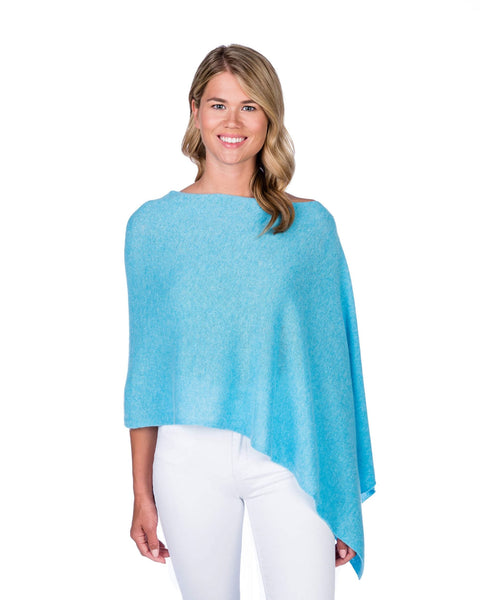 Claudia Nichole Cashmere Dress Topper - Bahama Blue