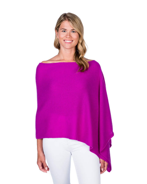 Claudia Nichole Cashmere Dress Topper - Boysenberry
