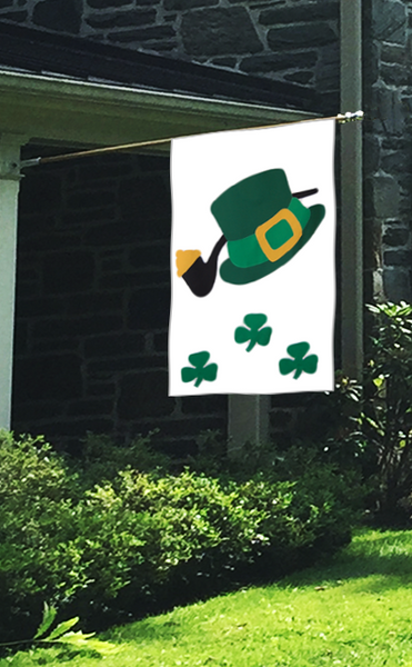St. Patrick's Day Irish Hat & Pipe Flag